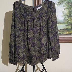 LOFT long sleeve sheer blouse Size(M)A74